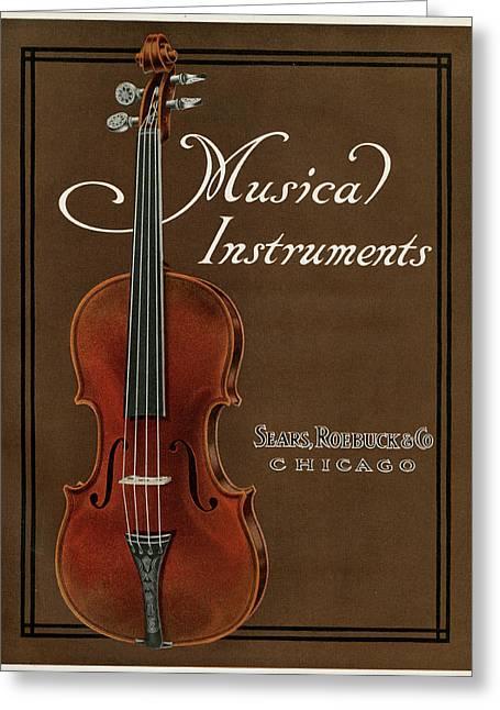 Violin     Date 1911 Greeting Card