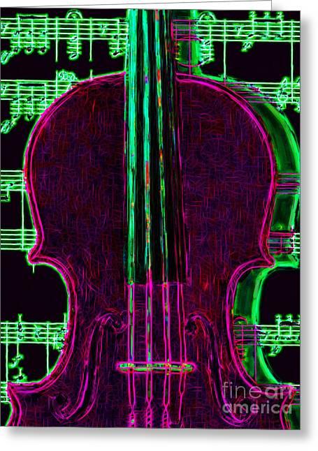 Violin - 20130128v2 Greeting Card by Wingsdomain Art and Photography