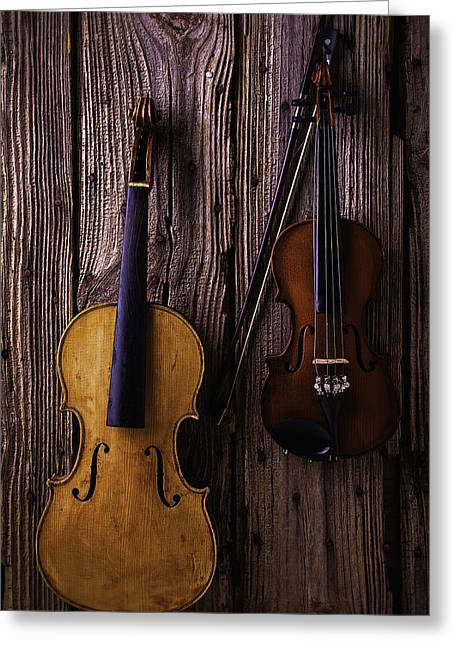 Violin And Viola Greeting Card by Garry Gay