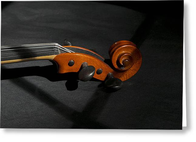 Violin In Shadow Greeting Card by Mark McKinney