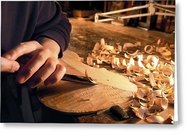 Violin-making Workshop Greeting Card