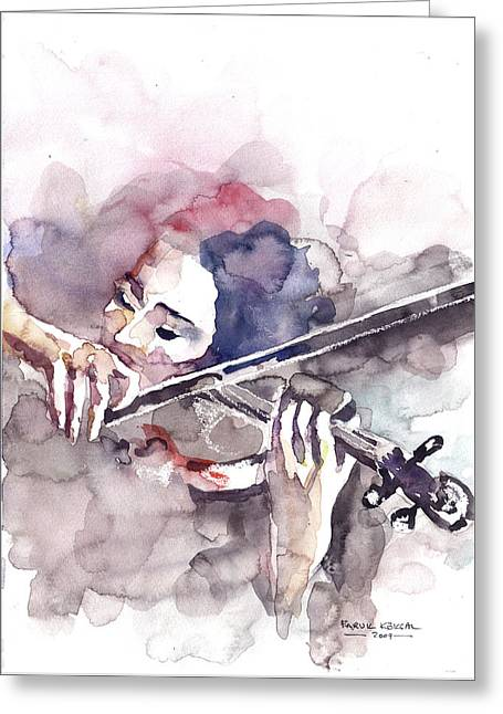 Violin Prelude Greeting Card