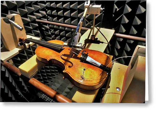Violin Tests In Anechoic Chamber Greeting Card by Patrick Landmann