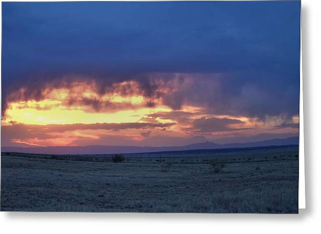 Virga Sunset Greeting Card