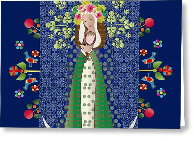 Virgen Chinita Greeting Card