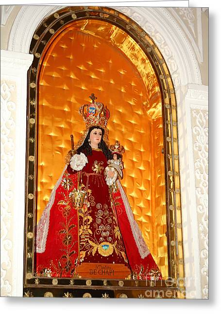Virgen De Chapi Arequipa Greeting Card by James Brunker