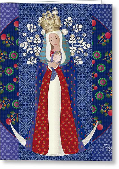 Virgen Posada Del Lago Greeting Card