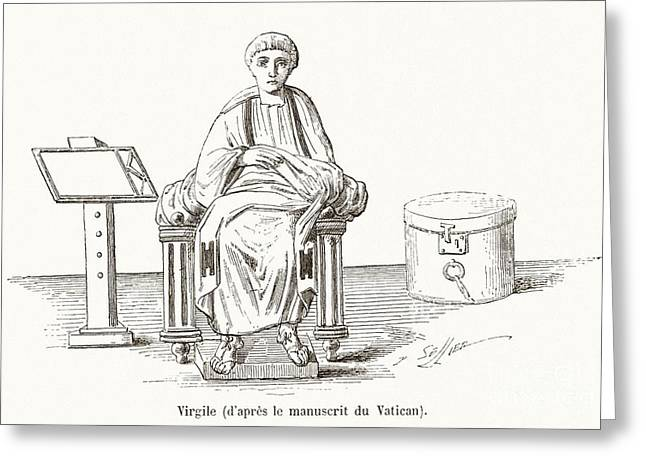 Virgil, Roman Poet Greeting Card by Middle Temple Library