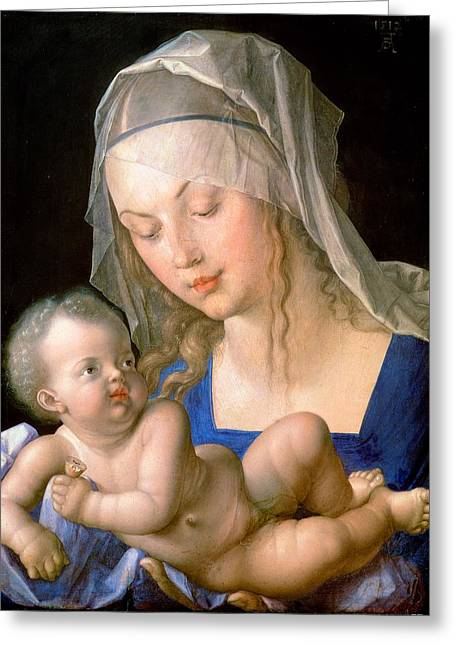 Virgin And Child Holding A Half-eaten Pear, 1512 Greeting Card