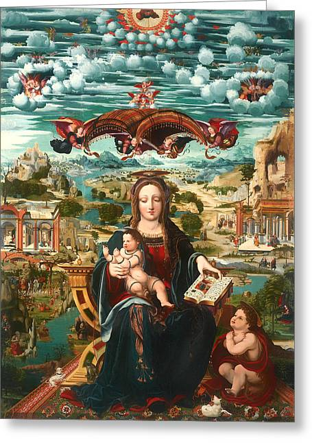 Virgin And Child With The Infant Saint John Greeting Card