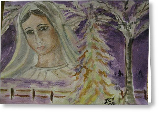 Virgin Mary At Medjugorje Greeting Card