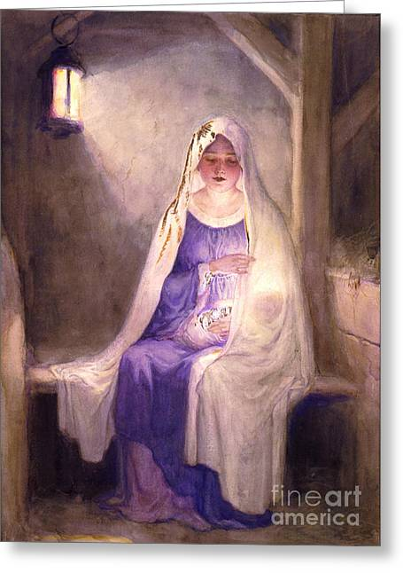 Virgin Mary Holding Baby Jesus 1912 Greeting Card by Padre Art