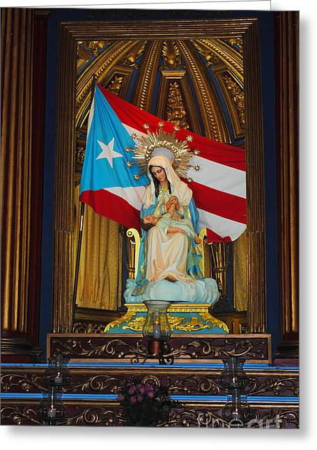 Virgin Mary In Church Greeting Card