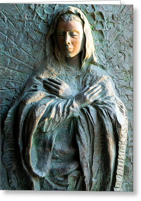 Virgin Mary Relief Greeting Card