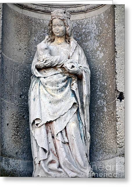 Virgin Mary With Child Greeting Card