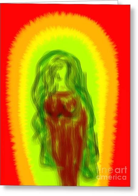 Virgin Of Seduction Greeting Card by James Eye