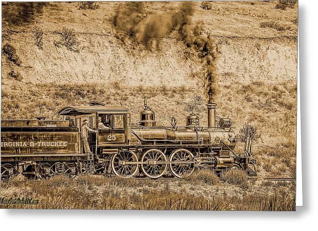 Virginia And Truckee Rail Road Gold Rush Greeting Card