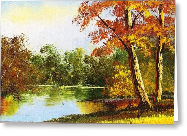 Virginia Autumn By Mr. Kelly Greeting Card by Anne-Elizabeth Whiteway