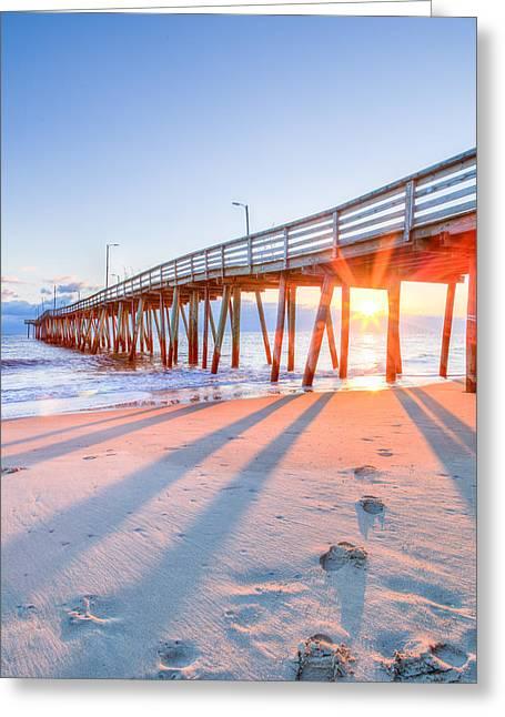 Virginia Beach Fishing Pier Greeting Card