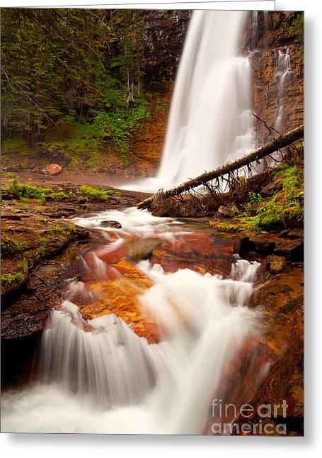 Greeting Card featuring the photograph Virginia Cascades by Aaron Whittemore