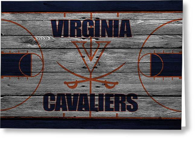 Virginia Cavaliers Greeting Card by Joe Hamilton