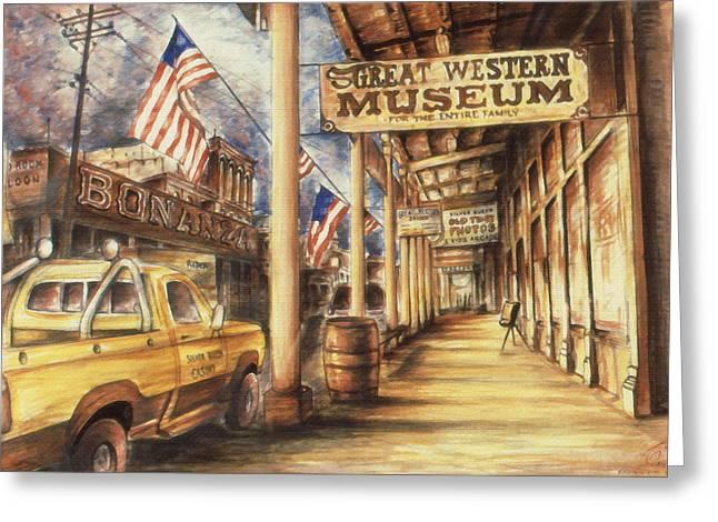 Virginia City Nevada - Western Art Painting Greeting Card