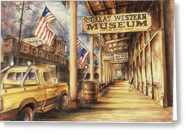 Virginia City Nevada - Western Art Greeting Card