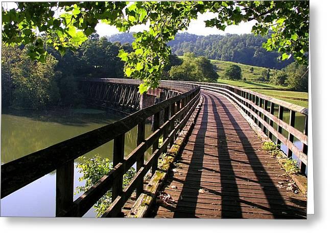 Virginia Creeper Trail Greeting Card by Robert Watson
