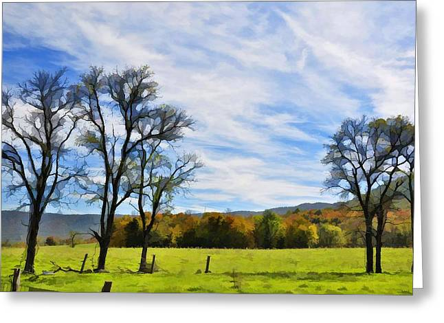 Virginia Hills Greeting Card by Jan Amiss Photography
