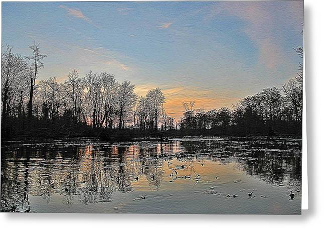 Greeting Card featuring the photograph Virginia Landscape Art #1b by Digital Art Cafe