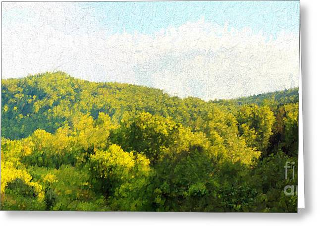 Virginia Landscape Greeting Card by Sandra Clark