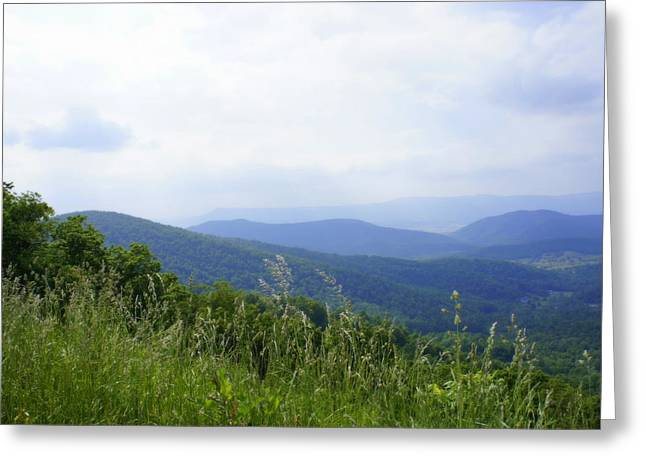 Greeting Card featuring the photograph Virginia Mountains by Laurie Perry