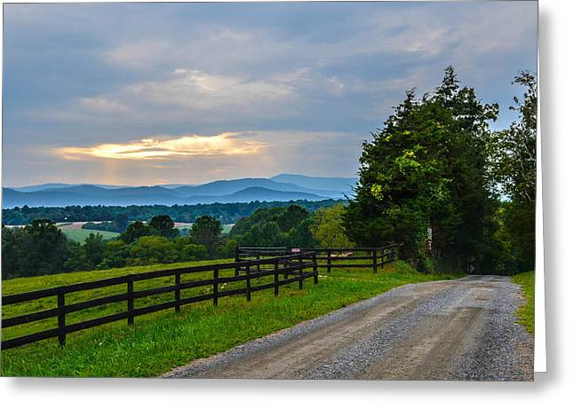 Virginia Road At Sunset Greeting Card by Alex Zorychta