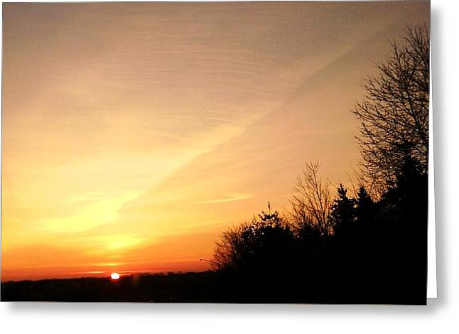Greeting Card featuring the photograph Virginia Sunset by Carlee Ojeda