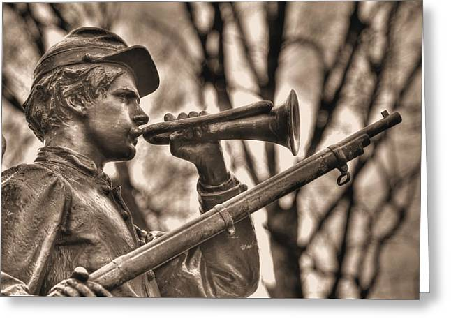 Virginia To Her Sons At Gettysburg - War Fighters - The Call To Arms Greeting Card