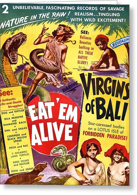 Virgins Of Bali Eatem Alive Greeting Card by Studio Release