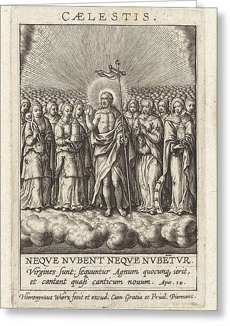 Virtue Of Heaven, Hieronymus Wierix Greeting Card