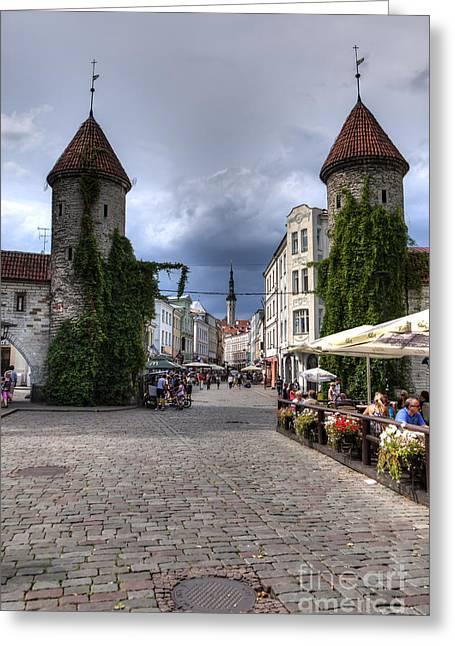 Viru Gate Tallinn Estonia Greeting Card