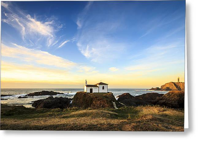 Greeting Card featuring the photograph Virxe Do Porto Meiras Galicia Spain by Pablo Avanzini