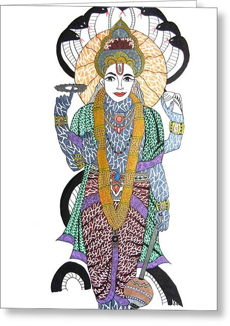 Vishnu II Greeting Card