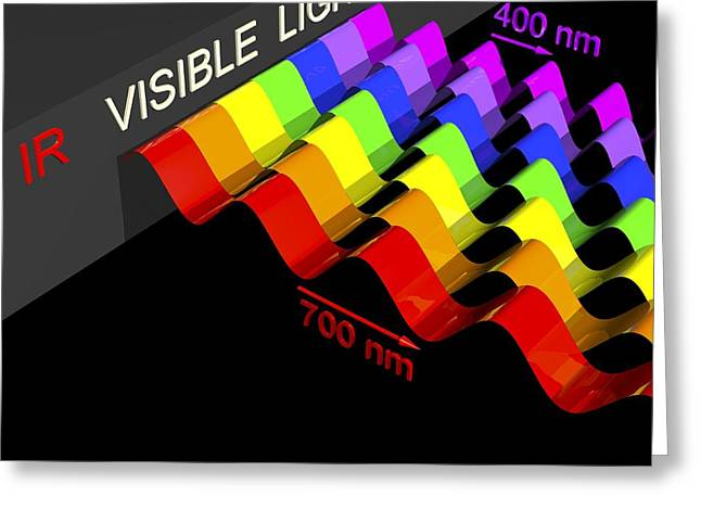 Visible Light Spectrum, Artwork Greeting Card by Russell Kightley