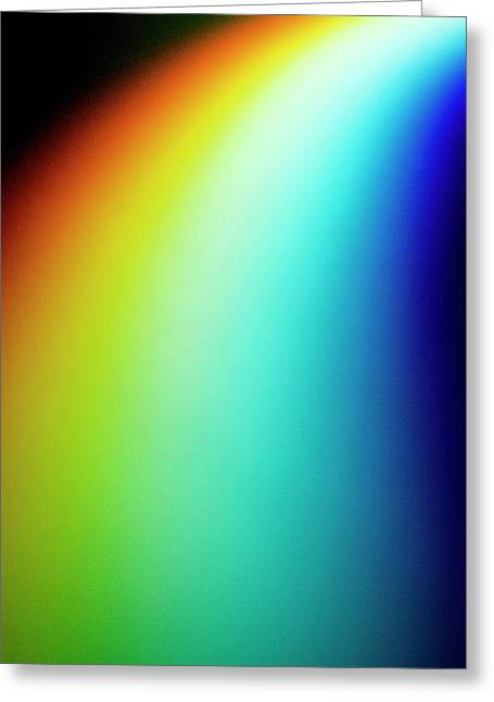 Visible Light Spectrum Greeting Card by Crown Copyright/health & Safety Laboratory Science Photo Library