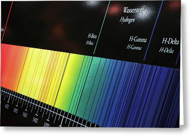 Visible Spectrum Greeting Card by Detlev Van Ravenswaay