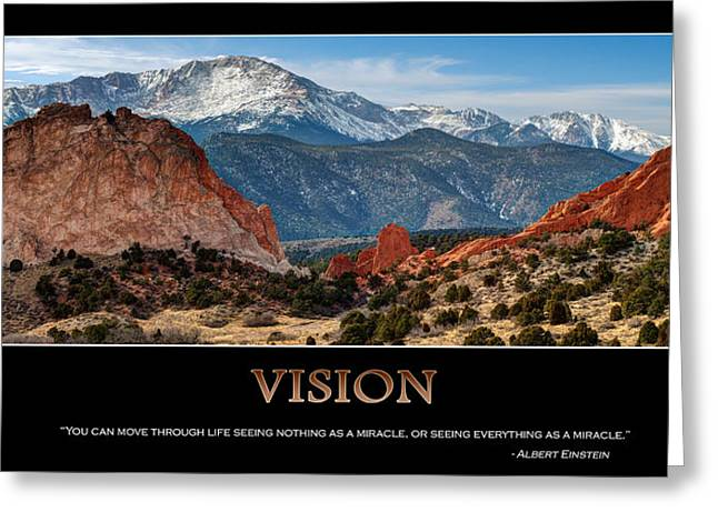Vision - Inspirational Greeting Card by Gregory Ballos