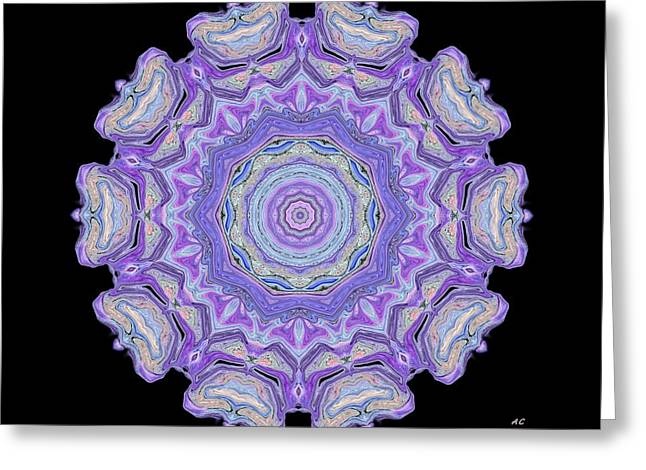 Greeting Card featuring the digital art Vision Wheel by Aliceann Carlton