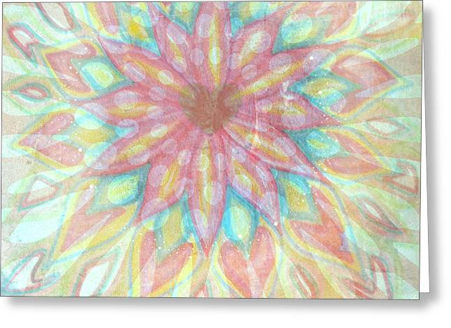 Visionary Crown Chakra Greeting Card by Sacred  Muse