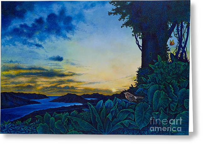 Visions Of Paradise II Greeting Card by Michael Frank