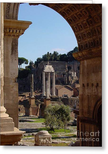 Visions Of Rome Greeting Card by Nancy Bradley