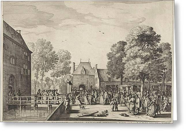 Visit Of Queen Henrietta Maria To Adriaen Peacock Greeting Card