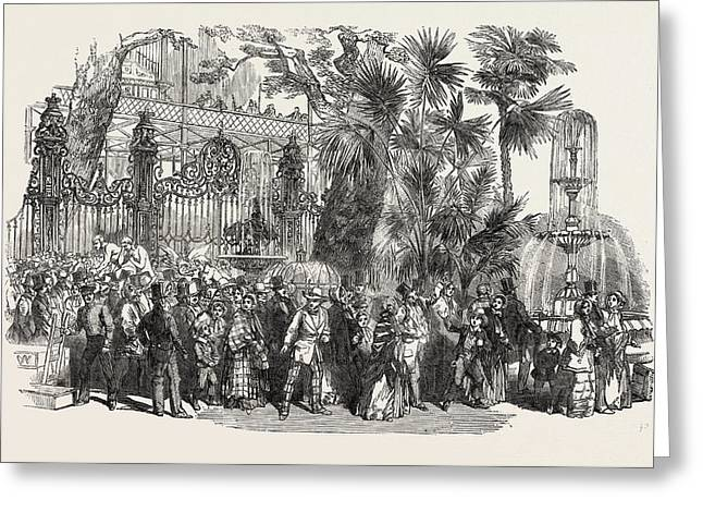 Visit Of The Colonization Loan Societys Emigrants Greeting Card